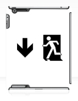 Running Man Fire Safety Exit Sign Emergency Evacuation Apple iPad Tablet Case 55