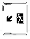 Running Man Fire Safety Exit Sign Emergency Evacuation Apple iPad Tablet Case 56