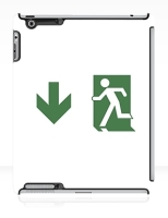 Running Man Fire Safety Exit Sign Emergency Evacuation Apple iPad Tablet Case 57