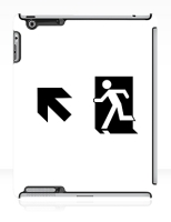 Running Man Fire Safety Exit Sign Emergency Evacuation Apple iPad Tablet Case 58
