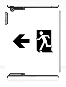 Running Man Fire Safety Exit Sign Emergency Evacuation Apple iPad Tablet Case 59