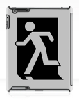 Running Man Fire Safety Exit Sign Emergency Evacuation Apple iPad Tablet Case 6
