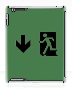 Running Man Fire Safety Exit Sign Emergency Evacuation Apple iPad Tablet Case 60