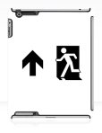 Running Man Fire Safety Exit Sign Emergency Evacuation Apple iPad Tablet Case 61