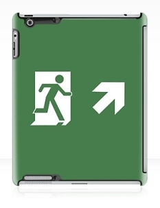 Running Man Fire Safety Exit Sign Emergency Evacuation Apple iPad Tablet Case 62