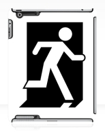 Running Man Fire Safety Exit Sign Emergency Evacuation Apple iPad Tablet Case 63