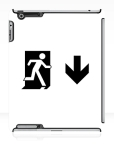 Running Man Fire Safety Exit Sign Emergency Evacuation Apple iPad Tablet Case 64