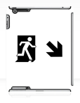 Running Man Fire Safety Exit Sign Emergency Evacuation Apple iPad Tablet Case 65