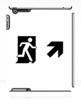 Running Man Fire Safety Exit Sign Emergency Evacuation Apple iPad Tablet Case 66