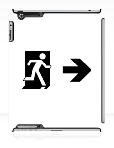 Running Man Fire Safety Exit Sign Emergency Evacuation Apple iPad Tablet Case 67