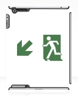 Running Man Fire Safety Exit Sign Emergency Evacuation Apple iPad Tablet Case 68