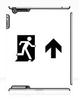 Running Man Fire Safety Exit Sign Emergency Evacuation Apple iPad Tablet Case 69