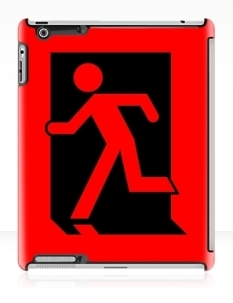 Running Man Fire Safety Exit Sign Emergency Evacuation Apple iPad Tablet Case 7