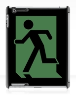 Running Man Fire Safety Exit Sign Emergency Evacuation Apple iPad Tablet Case 70