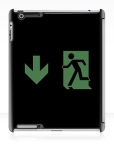 Running Man Fire Safety Exit Sign Emergency Evacuation Apple iPad Tablet Case 71