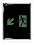 Running Man Fire Safety Exit Sign Emergency Evacuation Apple iPad Tablet Case 72
