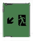 Running Man Fire Safety Exit Sign Emergency Evacuation Apple iPad Tablet Case 73
