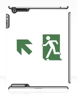 Running Man Fire Safety Exit Sign Emergency Evacuation Apple iPad Tablet Case 74