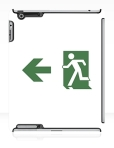 Running Man Fire Safety Exit Sign Emergency Evacuation Apple iPad Tablet Case 75