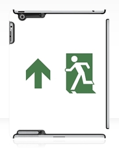 Running Man Fire Safety Exit Sign Emergency Evacuation Apple iPad Tablet Case 76