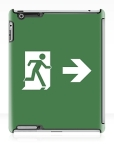 Running Man Fire Safety Exit Sign Emergency Evacuation Apple iPad Tablet Case 77