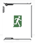 Running Man Fire Safety Exit Sign Emergency Evacuation Apple iPad Tablet Case 78