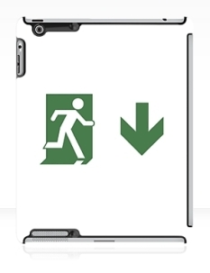 Running Man Fire Safety Exit Sign Emergency Evacuation Apple iPad Tablet Case 79