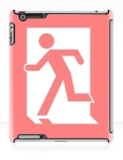Running Man Fire Safety Exit Sign Emergency Evacuation Apple iPad Tablet Case 8
