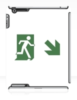 Running Man Fire Safety Exit Sign Emergency Evacuation Apple iPad Tablet Case 80
