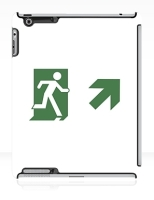Running Man Fire Safety Exit Sign Emergency Evacuation Apple iPad Tablet Case 81