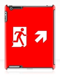 Running Man Fire Safety Exit Sign Emergency Evacuation Apple iPad Tablet Case 82