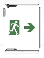 Running Man Fire Safety Exit Sign Emergency Evacuation Apple iPad Tablet Case 83