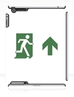 Running Man Fire Safety Exit Sign Emergency Evacuation Apple iPad Tablet Case 85