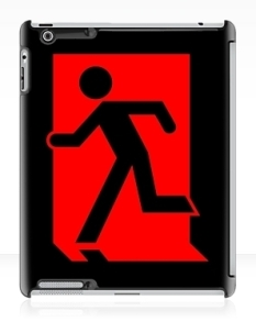 Running Man Fire Safety Exit Sign Emergency Evacuation Apple iPad Tablet Case 86