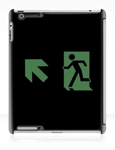 Running Man Fire Safety Exit Sign Emergency Evacuation Apple iPad Tablet Case 88
