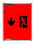 Running Man Fire Safety Exit Sign Emergency Evacuation Apple iPad Tablet Case 9