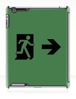 Running Man Fire Safety Exit Sign Emergency Evacuation Apple iPad Tablet Case 94