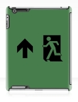 Running Man Fire Safety Exit Sign Emergency Evacuation Apple iPad Tablet Case 97