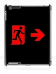 Running Man Fire Safety Exit Sign Emergency Evacuation Apple iPad Tablet Case 98
