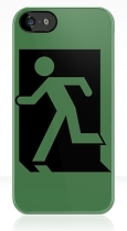 Running Man Fire Safety Exit Sign Emergency Evacuation Apple iPhone 5 Mobile Phone Case 1