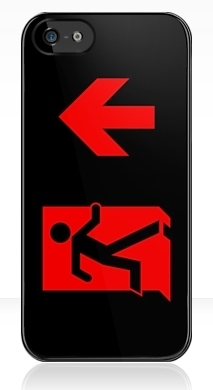 Running Man Fire Safety Exit Sign Emergency Evacuation Apple iPhone 5 Mobile Phone Case 100