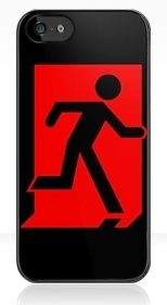 Running Man Fire Safety Exit Sign Emergency Evacuation Apple iPhone 5 Mobile Phone Case 101