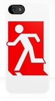 Running Man Fire Safety Exit Sign Emergency Evacuation Apple iPhone 5 Mobile Phone Case 102