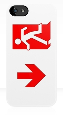 Running Man Fire Safety Exit Sign Emergency Evacuation Apple iPhone 5 Mobile Phone Case 103