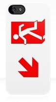 Running Man Fire Safety Exit Sign Emergency Evacuation Apple iPhone 5 Mobile Phone Case 104