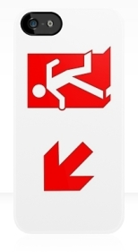 Running Man Fire Safety Exit Sign Emergency Evacuation Apple iPhone 5 Mobile Phone Case 105