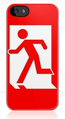 Running Man Fire Safety Exit Sign Emergency Evacuation Apple iPhone 5 Mobile Phone Case 106