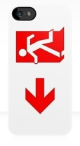 Running Man Fire Safety Exit Sign Emergency Evacuation Apple iPhone 5 Mobile Phone Case 107