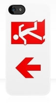 Running Man Fire Safety Exit Sign Emergency Evacuation Apple iPhone 5 Mobile Phone Case 108