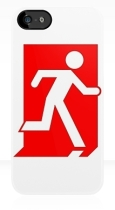 Running Man Fire Safety Exit Sign Emergency Evacuation Apple iPhone 5 Mobile Phone Case 109